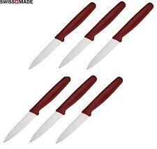 6 LOT Victorinox Kitchen Steak Paring Knife 3 ¼ Stainless Steel Blade Red Handle