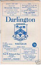 DARLINGTON  V WREXHAM  FA CUP  18/11/72