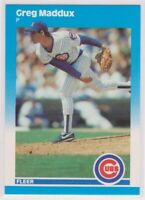 1987  Greg Maddux Fleer Update Baseball Rookie Card # U-68 - CHICAGO CUBS