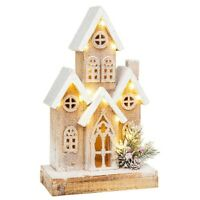 LED Christmas House Cozy Village Wooden Light Xmas Decoration Ornament Home