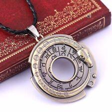 Snake Rune Zodiac Signs Symbols Leather Rope Necklace Pendant Amulet Protection