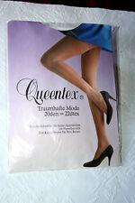 Original 70er Jahre Queentex Nylon Fessel Motiv Strumpfhose Gr. 44 Weiß 20 Den