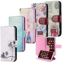 Custodia Flip Portafoglio Case Motivo Cover Wallet Etui Sony Xperia