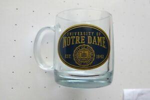 GLASS MUG COFFEE NOTRE DAME FIGHTING IRISH NEW