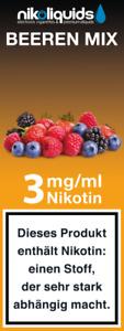 Sonderangebot 10  x 10 ml Nikoliquid 3mg Nikotin in versch. Geschmacksrichtungen