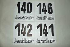 (32) 4 ANCIEN DOSSARD DE COUREUR CYCLISTE COURSE TOUR VÉLO FLANDRES FRANCE 1970