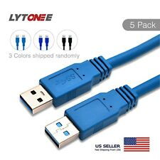 (5 pack) 6FT USB 3.0 A to A Cable Type A Male to Male Cable