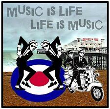 SKA (MUSIC IS LIFE) - FUN LARGE SOUVENIR NOVELTY SQUARE FRIDGE MAGNET - GIFTS