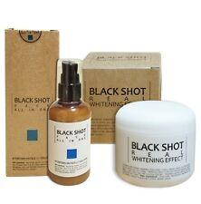 *Made in Korea* Black Shot Real Whitening Effect Body cream + FACE Essence 75g