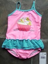 BNWT Girl's Pumpkin Patch Rubber Ducky Cupcake Swimmers/Bathers/Swimsuit Size 1