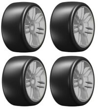 NEW GRP Mounted Belted Tires Grey Slick 17mm S1 1/8 Buggy