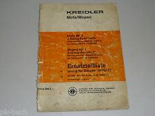 Ersatzteilliste Teileliste Kreidler Mofa Moped MF 4 MP 1 MF4 MP1, Stand 12/1971