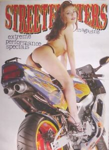 Magazine Centre-Fold (42cm x 30cm) Pin-Up Girl Black Panties - Honda FireBlade