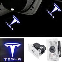 2pcs Car Door LED Puddle Courtesy Light Projector For TESLA MODEL X S 3