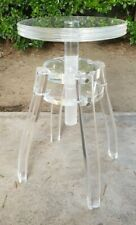 Mid Century Lucite Clear Stool Chair Work