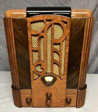 "BEAUTIFUL, WORKING 1937 Stewart Warner ""Prado"" Vacuum Tube ART DECO Radio"