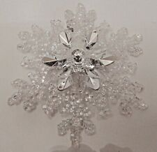 BATH & BODY WORKS CLEAR CRYSTAL SNOWFLAKE MAGNETIC CANDLE ORNAMENT OR DECORATION