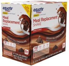 30 Bottles - Equate Meal Replacement Shake, Chocolate Weight Loss Drink 11 Oz.