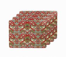 Leonardo William Morris Strawberry Thief Cork Placemats Set of 4 #LP92667