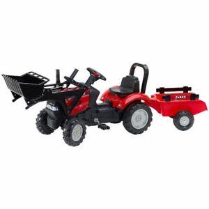 "Kinder XL Traktor Falk ""Case"" rot mit Anhänger + Schaufel ! Neu & Ovp!"