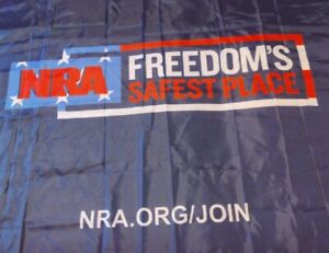 5 Foot Across 35 Inches Wide NRA Freedom Flag Can't Get All Of It In One Picture