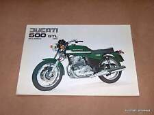 NOS Ducati 500 GTL Brochure parallel twin GREEN