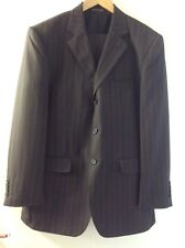 "WILLERBY SMITH LONDON SIZE 40R (W34"" L30"") DARK GREY STRIPE MENS 2 PIECE SUIT"