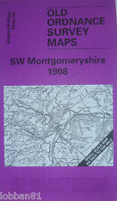Old Ordnance Survey Map SW Montgomeryshire  Llanidloes & Plan Y Fan 1908 S164