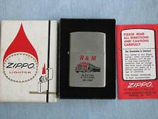 Zippo Lighter 1978 Advertising R&M Blasting and Trucking MIB