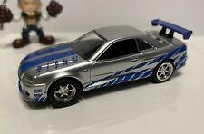 "LOOSE JADA FAST & FURIOUS BRIAN""S NISSAN SKYLINE GT-R R34 JDM DIECAST CAR 1/55"