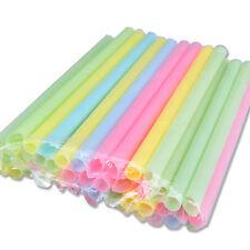 33X/Bag Multi Thick Drinking Straws Boba Tea Smoothie Wedding Party Drink Straw