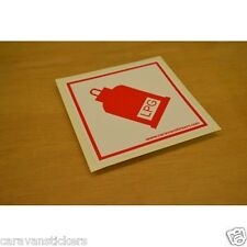 LPG - (FLAT VINYL) - Caravan Motorhome Sticker Decal Graphic - SINGLE