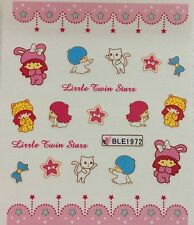 Nail Art Water Decals My Melody Hello Kitty Friends Little Twin Stars BLE1972