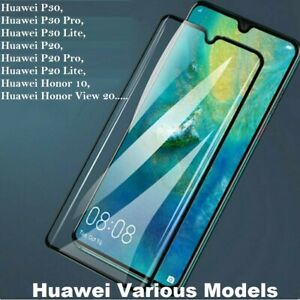 For Huawei P20 P30 Pro Lite Mate 20X Full Cover Tempered Glass Screen Protector