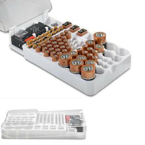 93Grid Battery Capacity Tester Storage Box Transparent Measuring Organizer Case