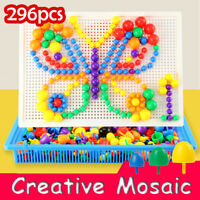 296 Pegs Children Puzzle Peg Board For Kids Educational Toys Creative Gifts UK