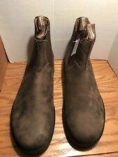 Blundstone Men's Classic 585 Rustic Brown Suede Leather lined Boots Size US 13