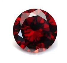 Pomegranate Red Sapphire 10mm 6.48Ct Round Cut Shape AAAAA VVS Loose Gemstone