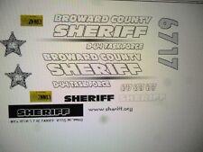 Broward County Florida Sheriff  DUI  Patrol Car Decals 1:24