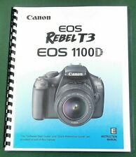 Canon Rebel T3 EOS 1100D Instruction Manual: 292 Color Pages & Protective Covers
