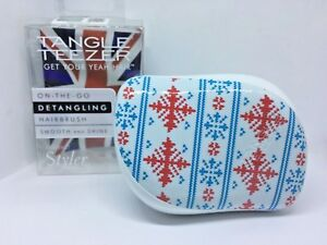 🎁🎄 Tangle Teezer Compact Style Winter Frost Limited Edition Best Price UK 🎁🎄