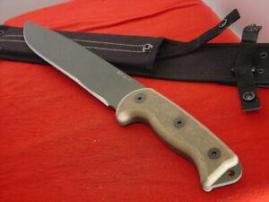 "Ontario USA Made 17"" RATK II Full Tang Micarta Fixed Blade 2nd Sheath Knife MINT"