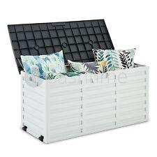 510L al aire libre Jardín Cojines de herramientas de pecho de almacenamiento Caja de Plástico Juguetes Con Cerradura Asiento