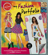 Klutz My Fashion Portfolio 40+ Outfits; Swatch & Style With Templates & Patterns