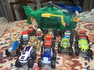 Blaze And The Monster Machines Swoops Helicopter + 13 Diecast Pilot Blaze ⭐LOT⭐