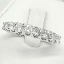 Genuine 1.30ctw 9-Stone G-SI Diamond 14K White Gold Ring Size 6.5 3.0g