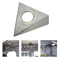 3.5W LED MAINS KITCHEN UNDER CABINET CUPBOARD TRIANGLE LIGHT KIT COOL WARM