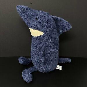 "Jellycat Blue Toothy Shark Plush 12"" Stuffed Baby Lovey Big Teeth FAST SHIPPING"