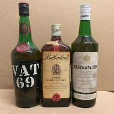 Black & White Whisky 43 % + Vat 69 Whisky 43 % + Ballantaine's Whisky 43 %