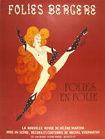 "Folies Bergere Folies en Folie Nude Red Erte - 17"" x 22"" Fine Art Print - 00285"